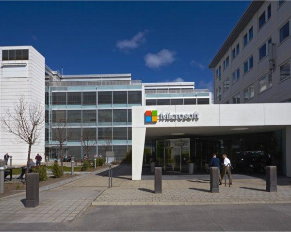 Entréplan på Finlandsgatan, Microsofts tidigare hemvist.